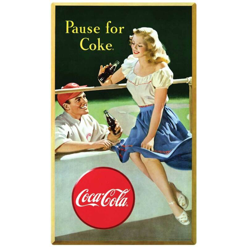 Pause for Coke Baseball Decal Peel & Stick Wall Graphic
