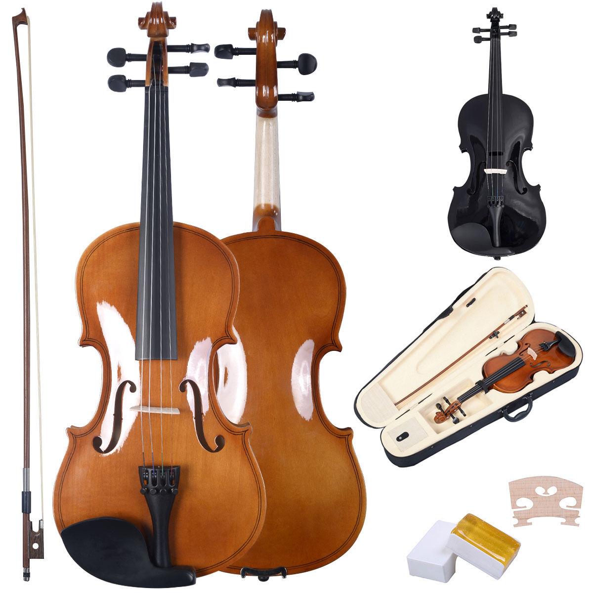 4/4 Violine Geige Set Bogen Koffer Zubehör Anfängergeige Schüler Musikinstrument