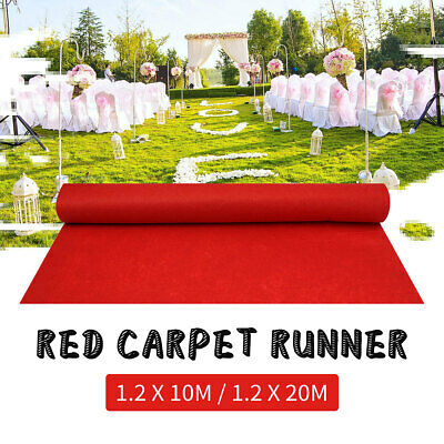 32/65FT Red Carpet Wedding Aisle Floor Runner Hollywood Party Decoration Large