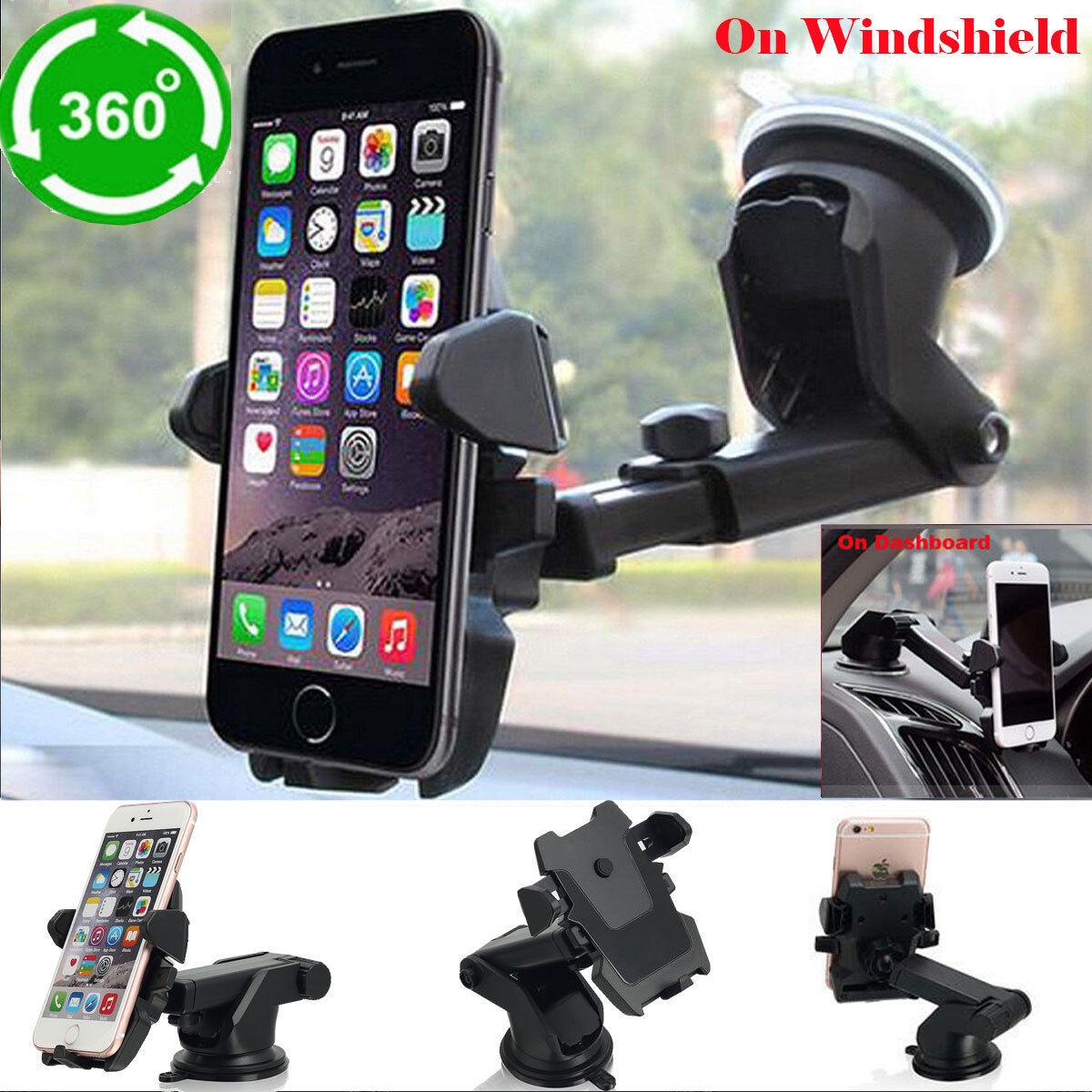 Universal Car Windshield Auto Lock Cell Phone Mount Holder F