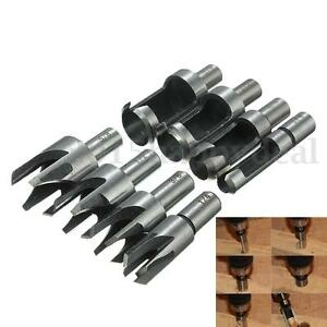 8pcs Carpentry Wood Plug Cutter Tool Drill Bit Set  5/8'' / 1/2'' / 3/8''/1/4''