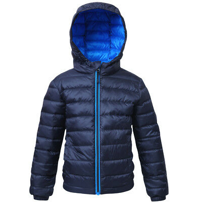 Boys' Ultra Lightweight Hooded Packable Down Jacket Quilted Puffer Coat Outwear (Boys Down Puffer)