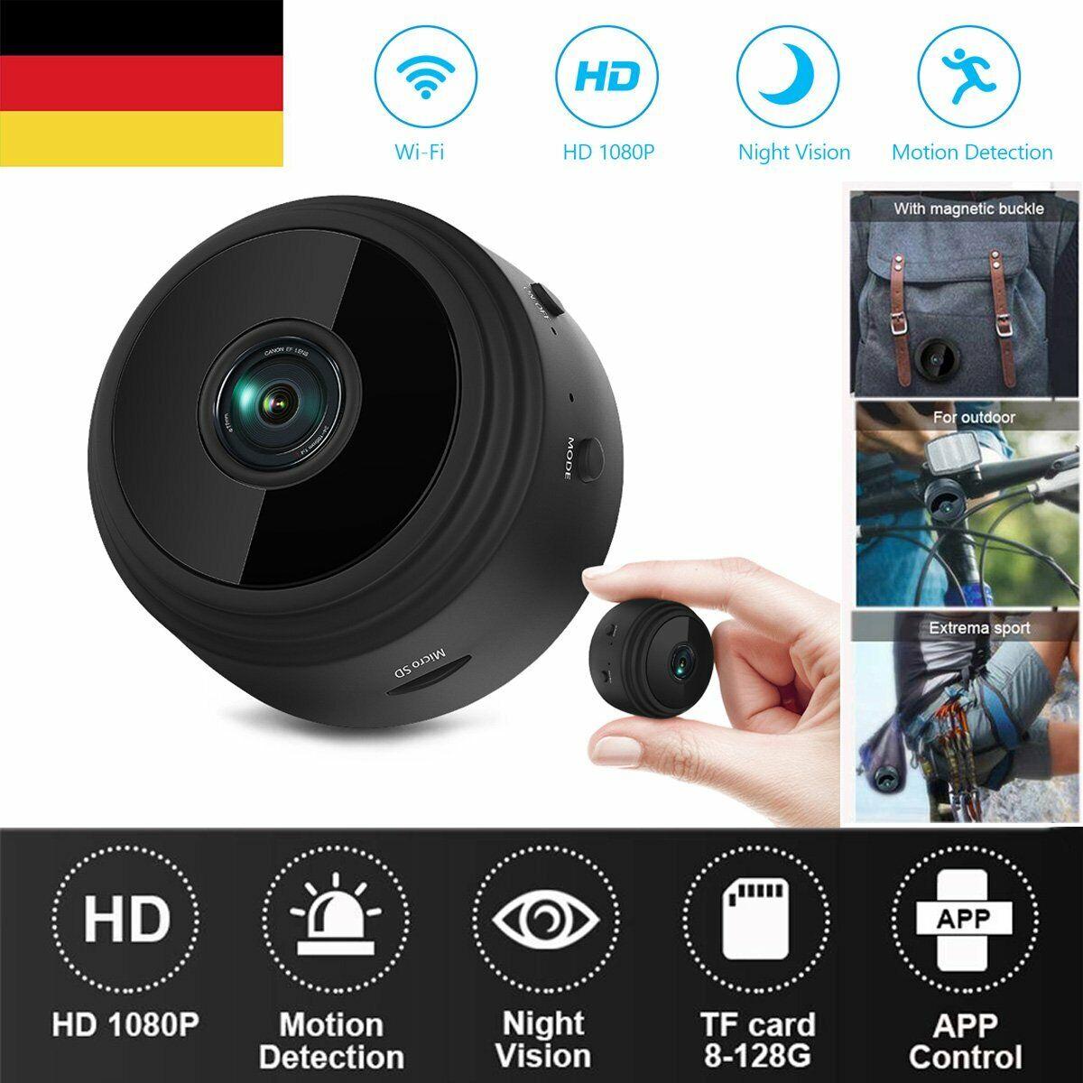 Mini IP Kamera HD 1080P Wireless Wifi Camera Überwachungskamera Wlan Netzwerk DE
