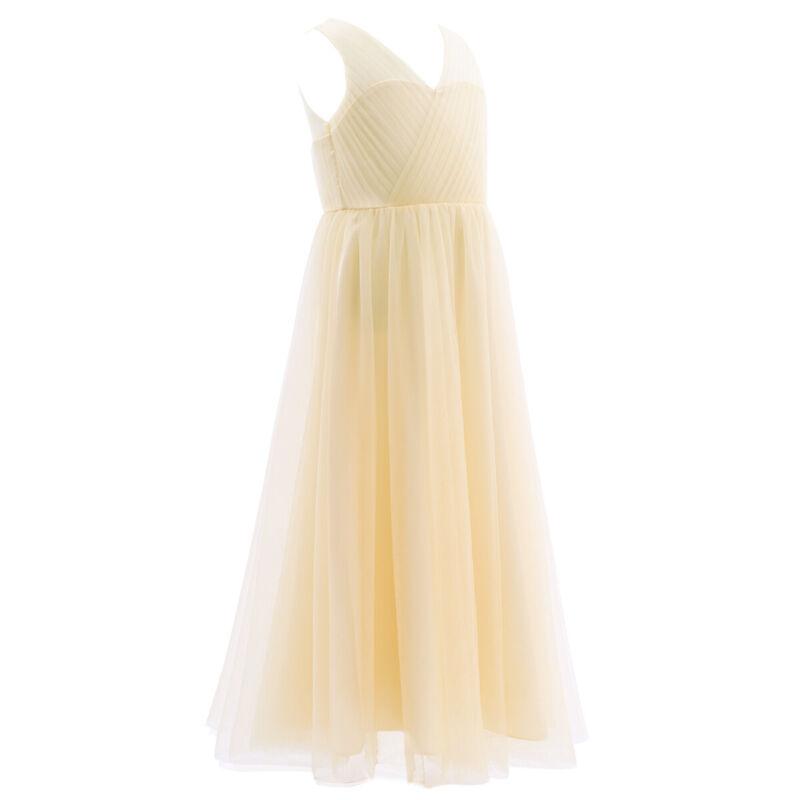 Madchen Kleid Lang Blumenmadchen Kleider Brautjungferkleid Partykleid Abendkleid Ebay