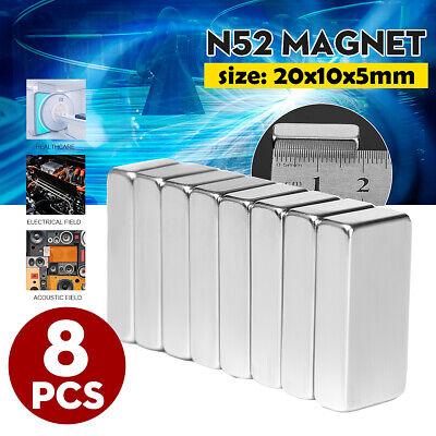 8pcs Strong N52 Square Grade Block Magnet Super Neodymium Rare Earth