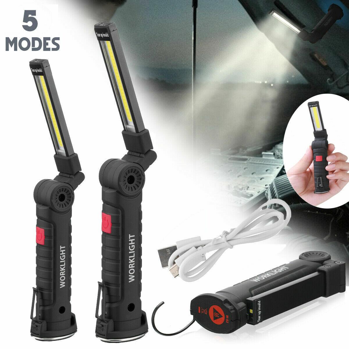 LED Motorhaubenleuchte Akku Stablampe Motorraumleuchte Arbeits Werkstatt Lampe