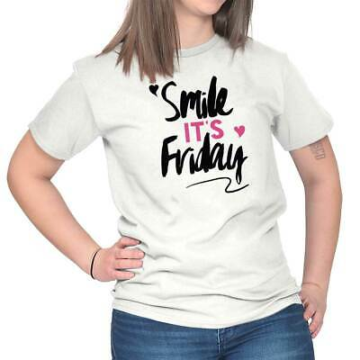Smile Its Friday Funny Weekend TGIF Gift T-Shirts T Shirts Tees For Womens - Funny Smile T-shirts Gifts