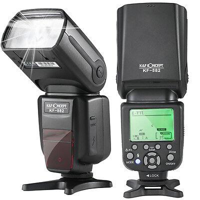 K&F Concept E-TTL Aufsteckblitz Speedlite Master Slave für Canon mit HSS 1/8000s