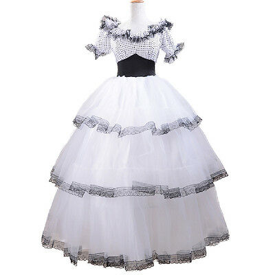 Adult Lady Lolita Dress Southern Belle Costume Evening Party Elegent Ball Gown