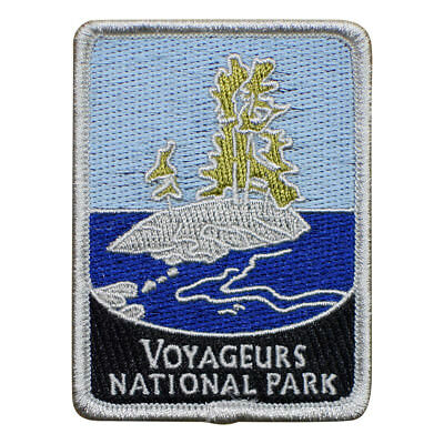 Voyageurs National Park Patch - Waterways and Islands, Minnesota (Iron on)