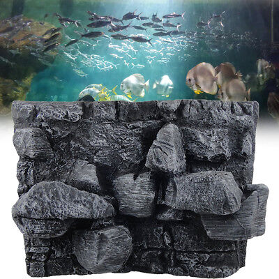 3D PU Rock Stone Reptile Aquarium Fish Tank Background Board Plate Decor 60x45cm