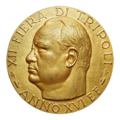 VENTENNIO FASCISTA Medaglia anno 1938 per la 12 Fiera di Tripoli con scatola ori