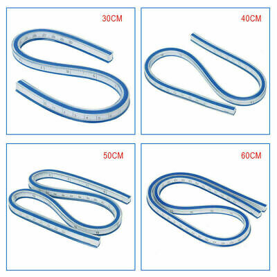 Flexibles Kurvenlineal Zeichnen Zeichenwerkzeug Kunststoff Vinyl 30/40/50/60CM