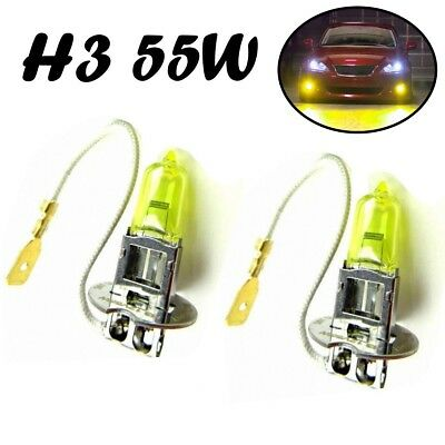 Kurven 3 Glühbirnen (2x H3 55W 12V PK22s Jurmann Aqua Vision Gelb Headlight Halogen Lampe E-geprüft)