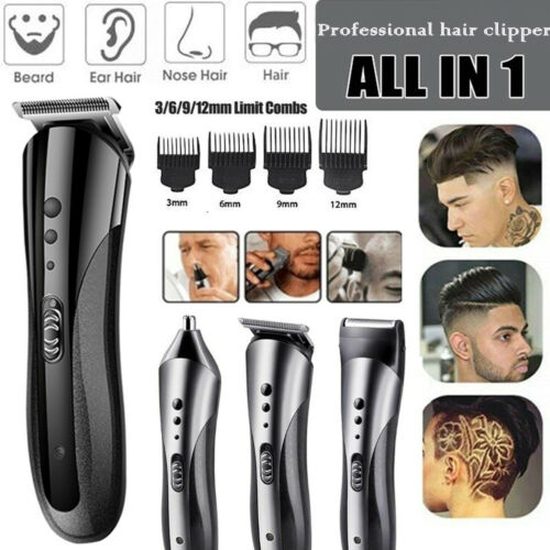Hair Clippers Trimmer Kemei 1407 Professional Kit Hair Cutting Machine Barber US Clippers & Trimmers