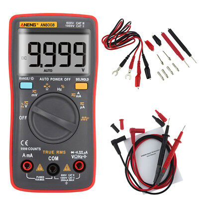 Aneng An8008 True Rms Wave Output Digital Multimeter 9999 Counts Backlight Ac Dc