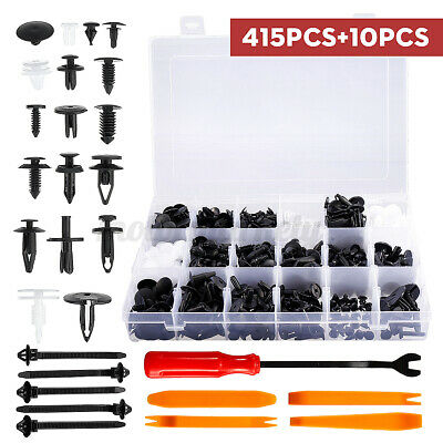 415X+10X Car Body Trim Clips Retainer Bumper Rivet Screw Panel Push Fasteners