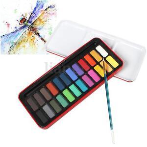 image is loading 24 couleurs palette peinture pigment solide colorant aquarelle - Colorant Les Artistes