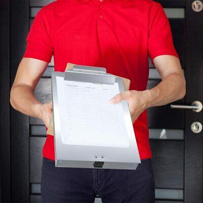 Heavy Duty Large Aluminum Clipboard Storage Case Metal Clip Box Paper Holder Set