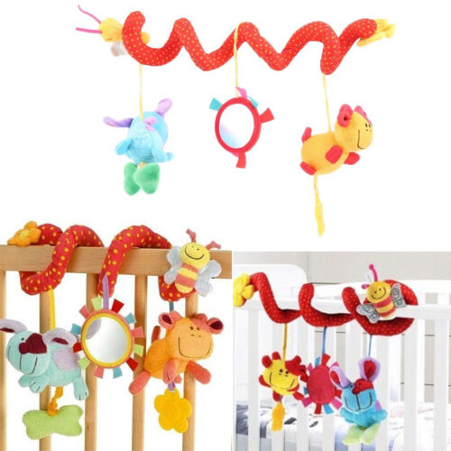 $9.69 - Lovely Animal Handbells Developmental Toy Bed Bells Kids Baby Soft Toys Rattle