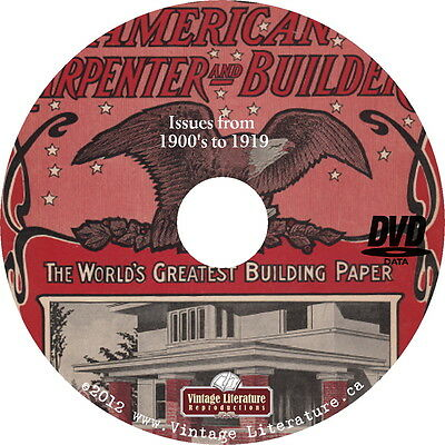 American Home Builder Magazine Library ~ 1900 to 1949 Blueprints on DVD