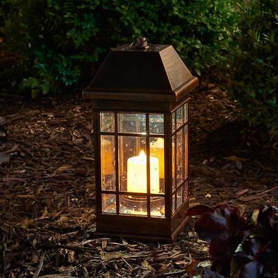 Outdoor Solar Lantern Hanging Light Led Garden Lamp Yard Patio Pillar Candle LED - Outdoor Pillar Lights