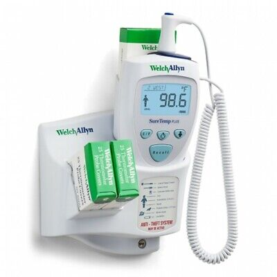 Welch Allyn Suretemp Plus Electric Thermometer 01692-200 With Wall Mount- New