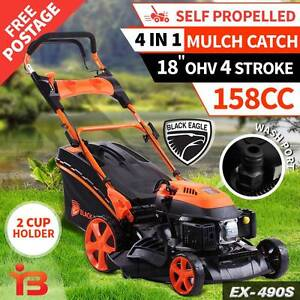 "Buy New Black Eagle 18"" Self-Propelled Lawn Mower with 4 Stroke Fairfield Fairfield Area Preview"
