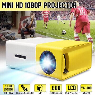 YG300 Mini Portable Multimedia LED LCD Projector Full HD 1080P Home Theater USB