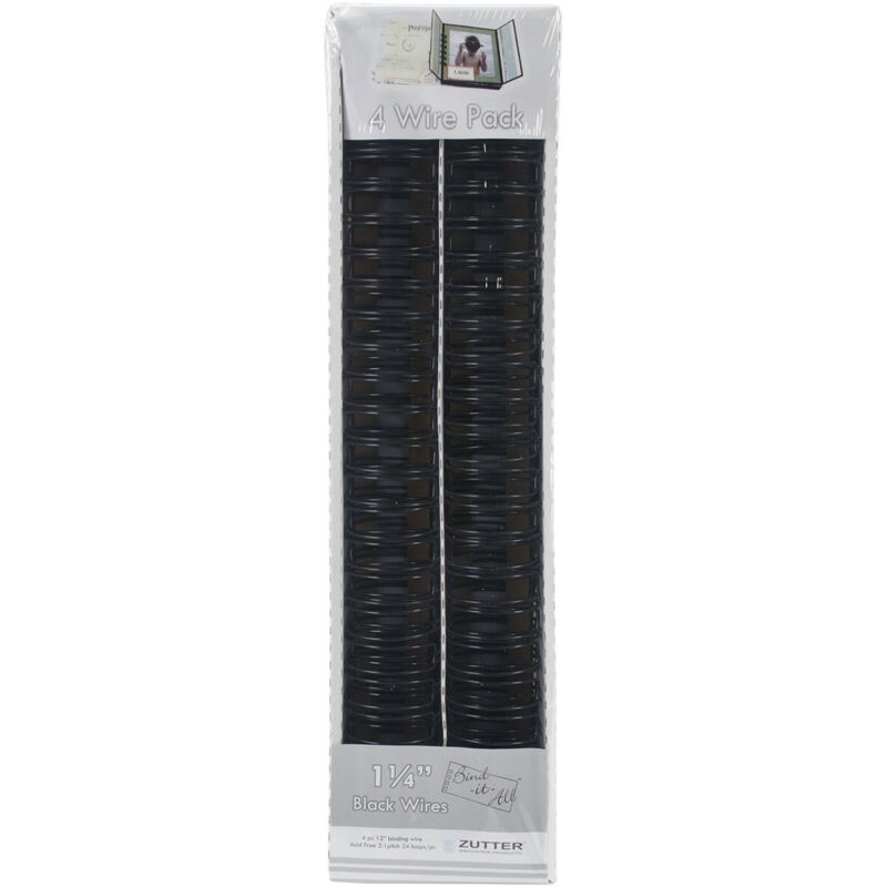 "Bind-It-All OWire 1.25"" 4/Pkg-Black"