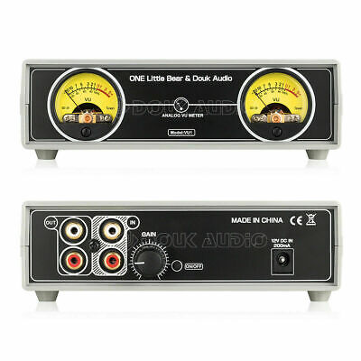 Analog Vu Meter Panel Db Sound Level Indicator For Amplifier Preamp W Backlight
