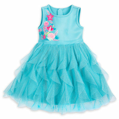 NWT Disney Store Ariel Dress Tulle Ruffle Little Mermaid Girls 4, 5/6, 7/8, 9/10 - Little Girls Clothing Store