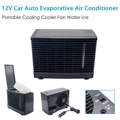 12V Car Air Conditioner Black Portable Electric Cooling Fan Water Air Cooler