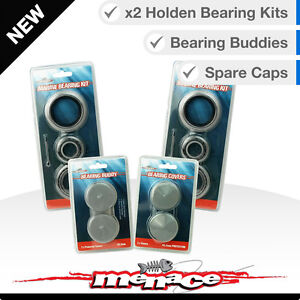 Complete-Set-Marine-Boat-Trailer-Wheel-Bearings-Buddies-Caps-Holden-Bearing