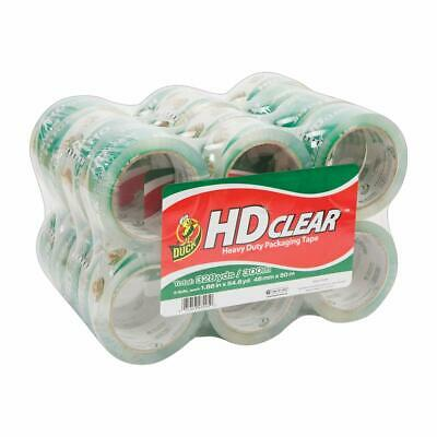 Duck Hd Clear Heavy Duty Packaging Tape1.88 Inches X 54.6 Yards Clear 24 Pack