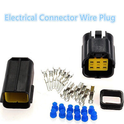 5 Sets 6 Pin Plug Connector Cable Wire 6 pairs x terminal(male, female)Connector
