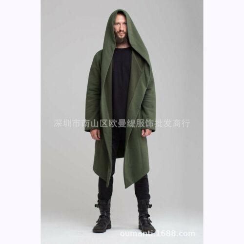 Women Men Warm Trench Coats Long Jackets Hooded Cardigan Long Cape Cloak Outwear
