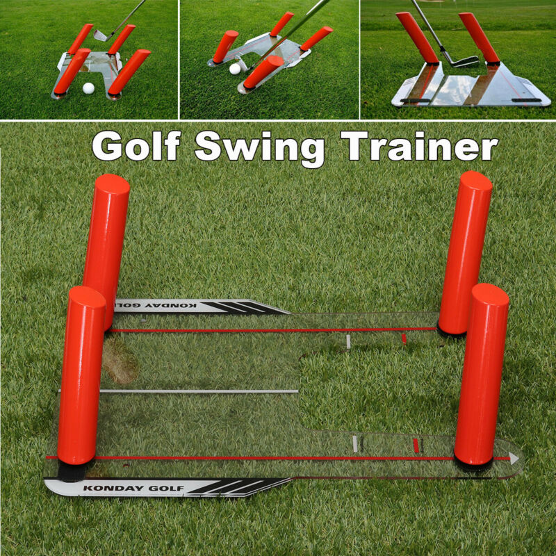 Pro Speed Trap Base Golf Swing Trainer Aid 4 Rods Hitting Practice Golf Training
