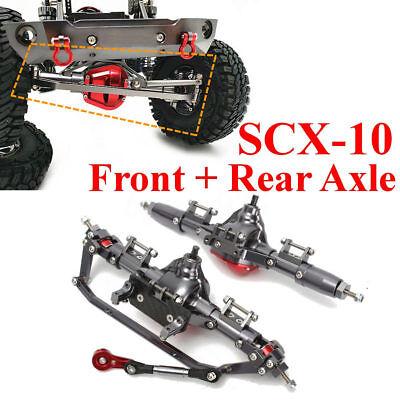 US 2pcs Axle Front Of CNC Aluminum + Rear Rock Axle For AXIAL Honcho SCX10 1:10