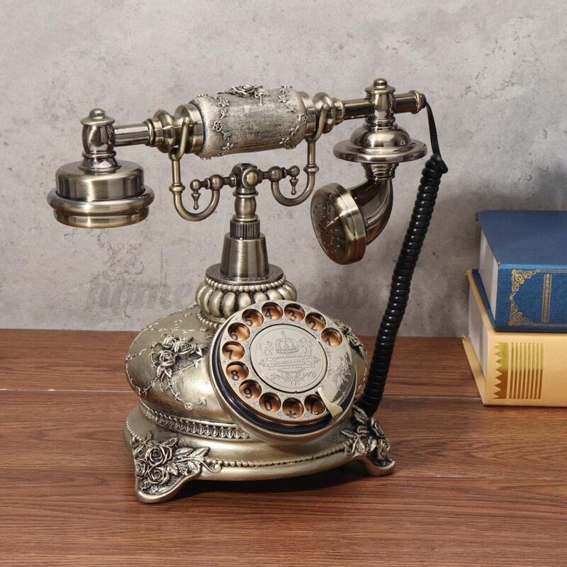 Vintage Retro Antique Style Corded Telephone Home Office Desk Landline Phone US