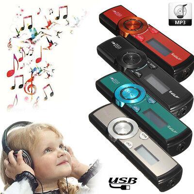 MP3 Player 32GB LCD Media FM Radio USB Micro SD / TF Card + Headphones + Clip
