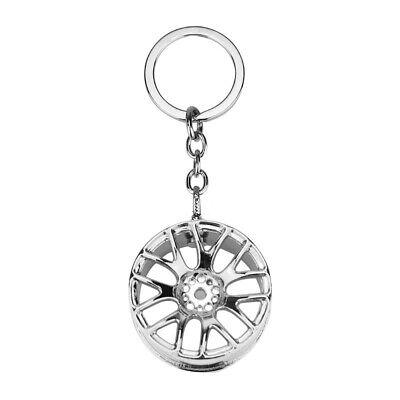 TRIXES Car Wheel Alloy Keyring Silver Colour