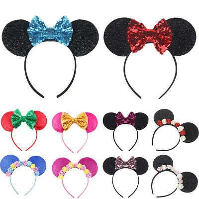 Accessory For Minnie Mouse (Minnie Mouse Ears Headbands for Girl Hairband Birthday Party Hair)