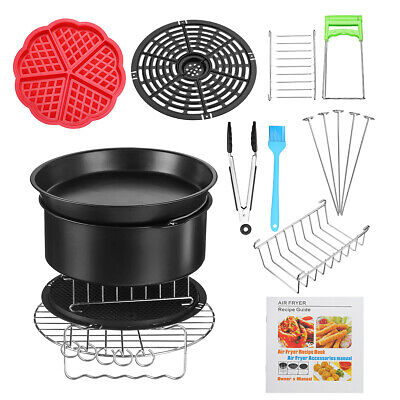 "10pcs 8"" Air Fryer Accessories Healthy Airfryer Chips Baking Set Cake Pizza -USA"