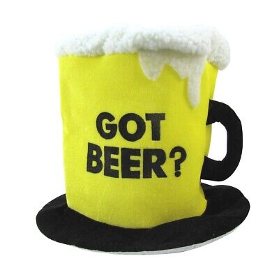 Funny Costume Hats (Funny Got Beer Drinking Hat Lg Bachelor Party Gag Gift Novelty Costume)