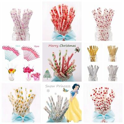 Baby Shower Ornaments (25Pc Mixed Drink Paper Straw Fruit Shape Birthday Party Baby Shower Decor)