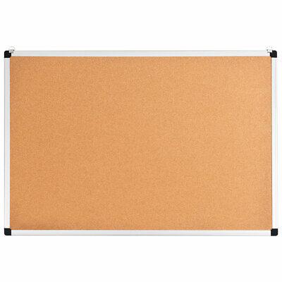 "Costway 24""x36"" Cork Bulletin Board Aluminium Frame Wall Mount Pin Board Utility"