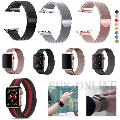 For Apple Watch Strap Series 5 4 3 2 1 Milanese Metal  iwatch Loop Band