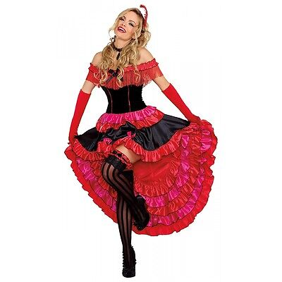 Saloon Girl Costume Adult Can Can Dancer Halloween Fancy Dress (Can Can Dancer Costumes)
