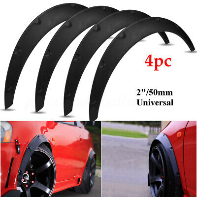 4x 2'' 50mm Universal JDM Fender Flare Widened Body Wheel Arch ABS Car  >